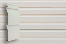 Виниловый сайдинг Grand Line Классика Корабельный брус слим (Белый), 3,0