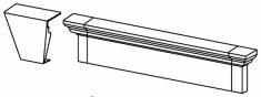 гладкий наличник 152мм х 854мм