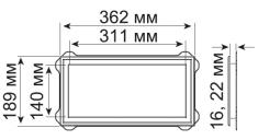Встраиваемый крупный блок, код 03 2201***, цвет любой